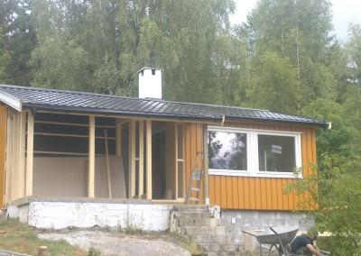 Ferdig stue vegg og konstruksjon for soverom