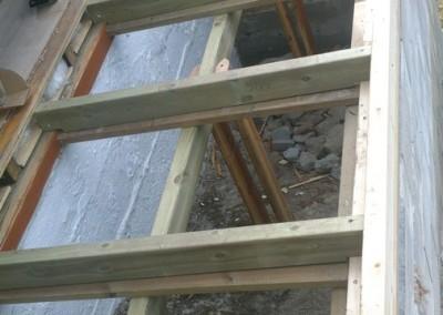 Gulv konstruksjon for stua utvidelse