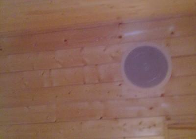 Høytalere i sauna