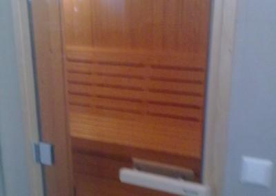 Inngang til sauna