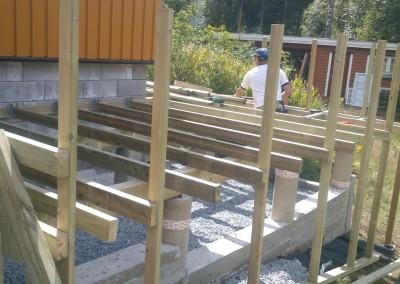 Konstruksjon for ny terrasse
