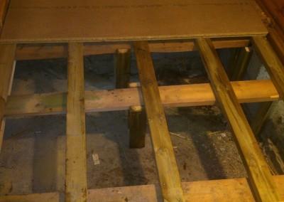 Konstruksjon til bade gulv