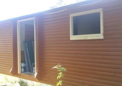 Ny inngang og vindu til bad