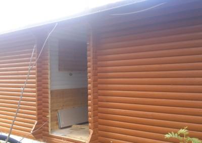 Ny inngang til hytta