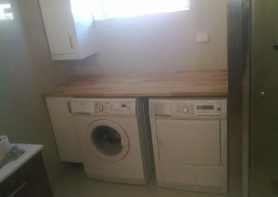 Plass for vaske og tørke maskin på badet