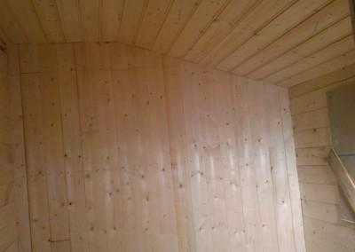 Ru panel montert på badet