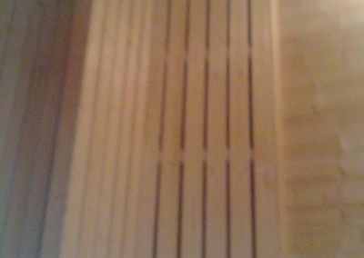 Sittebenk i sauna