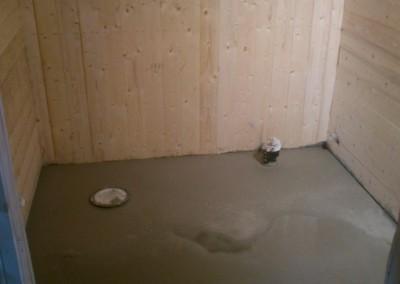 Stopt gulv på badet