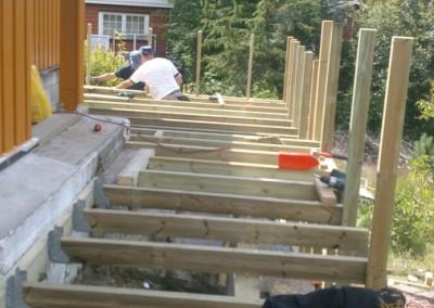 Terrasse og gjerde konstruksjon