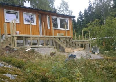 Trappe konstruksjon fra terrasse