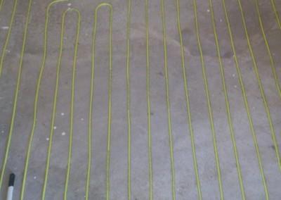 Varme kabel på badet