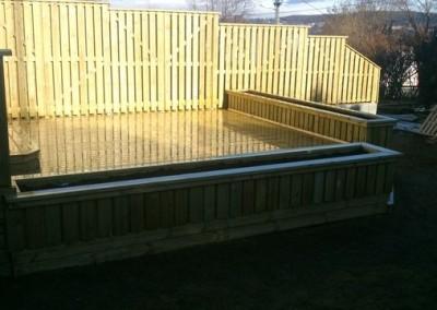 Ferdig og nyvasket terrasse